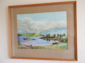 LARGE FRAMED GLAZED SIGNED ORIGINAL WATERCOLOUR PAINTING ROBERT TURNOCK